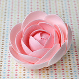 Pink Gumpaste Glam Rose sugarflower handmade cake decoration perfect as a cake topper for cake decorating fondant cakes.  Wholesale sugarflowers and bakery supply.