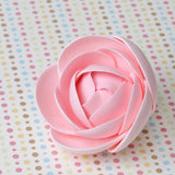 Hot Pink Gumpaste Glam Rose sugarflower handmade cake decoration perfect as a cake topper for cake decorating fondant cakes.  Wholesale sugarflowers and bakery supply.