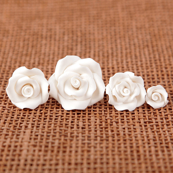 Petite Unwired Roses - White