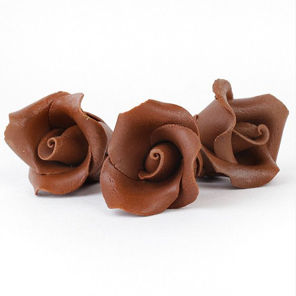 Small Chocolate Peruvian Roses - Unwired