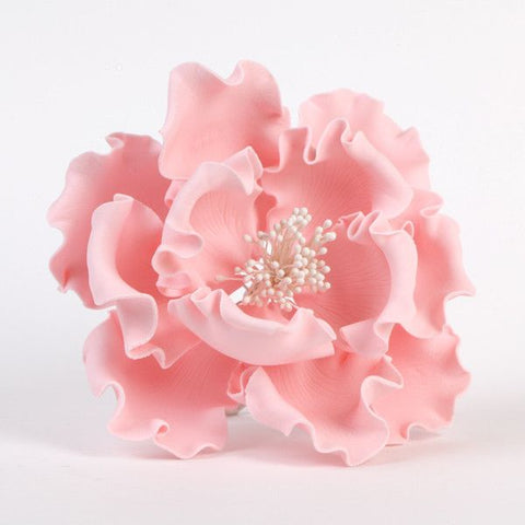 "Pink Gumpaste Extra Large Peony sugarflower cake toppers perfect for cake decorating rolled fondant wedding cakes and birthday cakes.  Wholesale cake supply.  Extra Large 6"" Peonies - Pink"