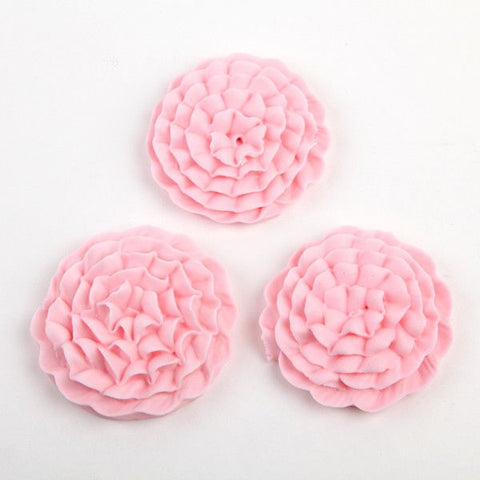 Carnation Royal Icing Decorations - Pink