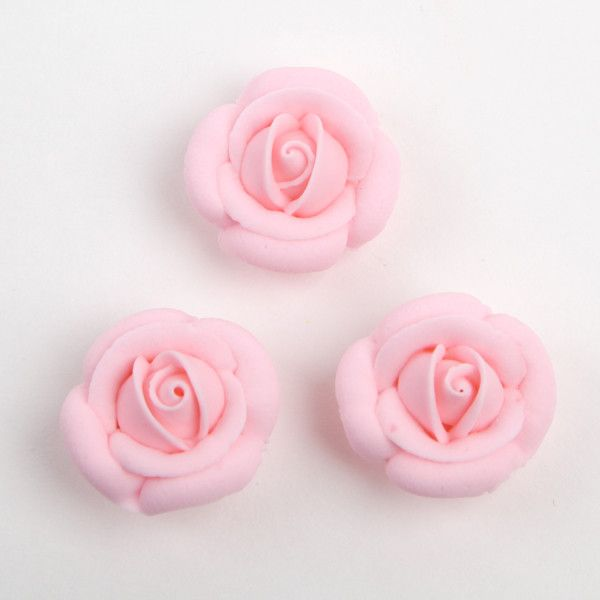 Rose Royal Icing Decorations - Pink