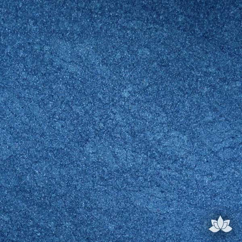 Super Blue Luster Dust colors for cake decorating fondant cakes, gumpaste sugarflowers, cake toppers, & other cake decorations. Wholesale cake supply. Bakery Supply. Prussian Blue Lustre Dust Color.