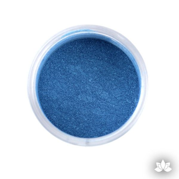 Super Blue Luster Dust Colors food coloring perfect for cake decorating fondant cakes, cupcakes, cake pops, wedding cakes, and sugarflowers. Dusting color. Cake supply.
