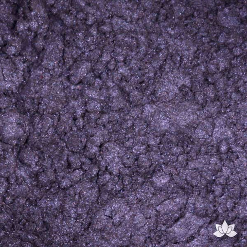 Purple Iris Luster Dust colors for cake decorating fondant cakes, gumpaste sugarflowers, cake toppers, & other cake decorations. Wholesale cake supply. Bakery Supply. Lustre Dust Color.