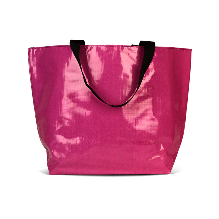 The Essential Tote for carrying your personal and cake items around with you. Made with recycled billboard material.