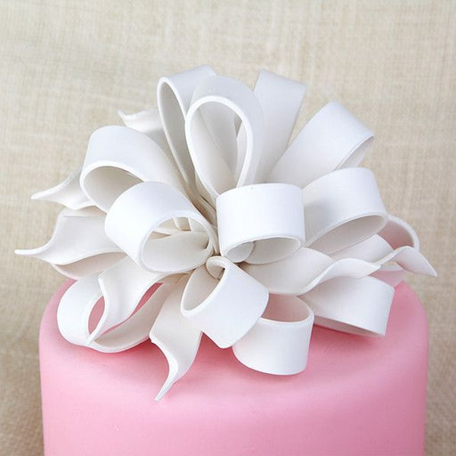 Gum Paste Ribbon & Tail Bow Cake Topper