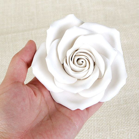 Rose Sugar Flower cake topper great for cake decorating your own wedding cakes or birthday cakes. | CaljavaOnline.com