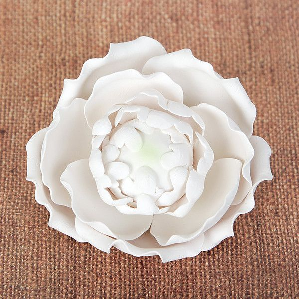 Readymade Blooming Peony Sugarflower Cake topper great for cake decorating your own wedding cake | CaljavaOnline.com