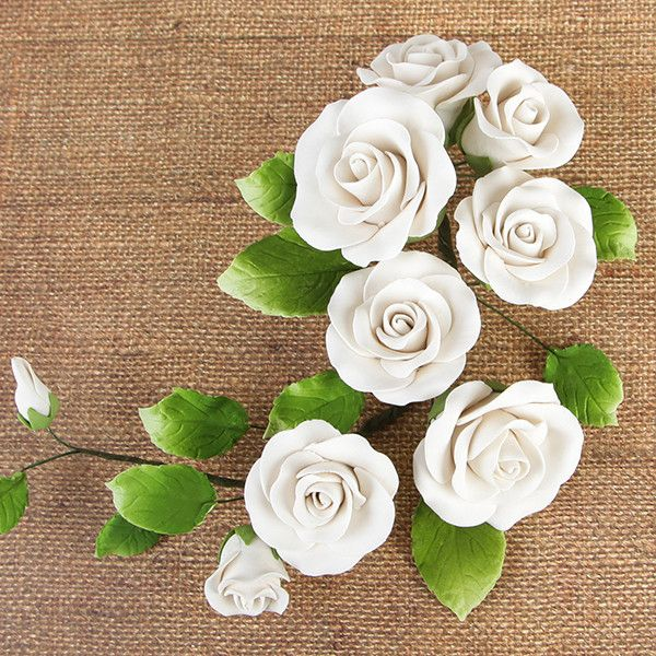 Rambling Rose Sugarflower Sprays perfect for cake decorating fondant cakes with cake toppers.  Wholesale cake decorations. Caljava