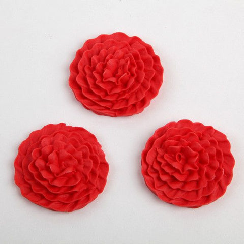Carnation Royal Icing Decorations - Red