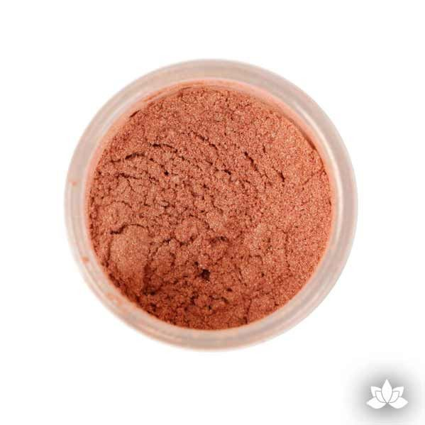 Rose Gold Luster Dust colors for cake decorating fondant cakes, gumpaste sugarflowers, cake toppers, & other cake decorations. Wholesale cake supply. Bakery Supply. | CaljavaOnline.com
