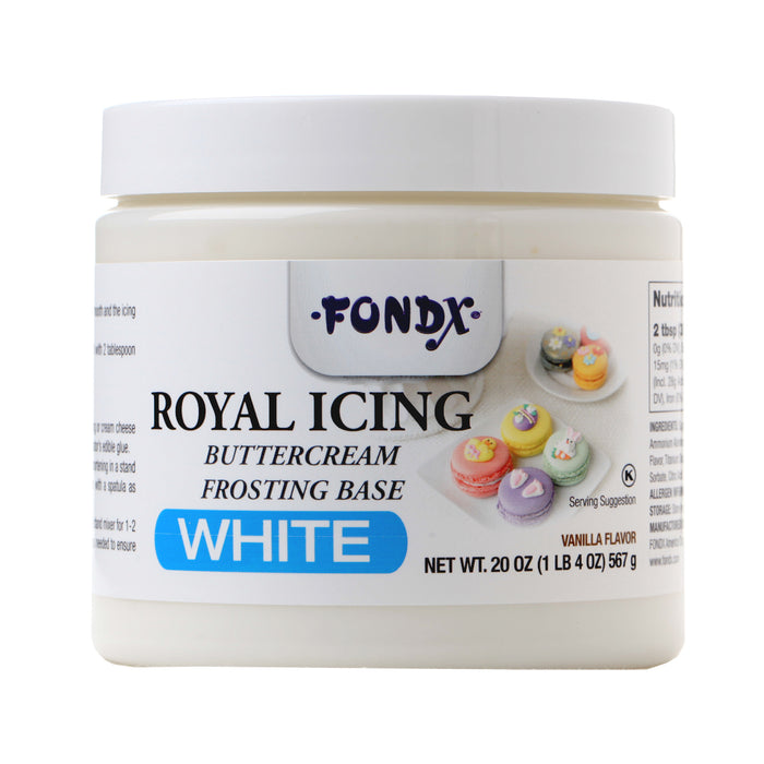 Wet Royal Icing Mix great for frosting cookies and piping details and designs for cakes and cookies.  Drys hard and fast, colors easily.  Buttercream Icing Base, to make easy frosting.