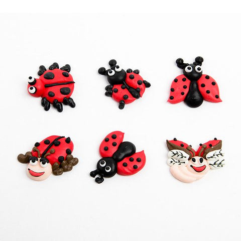 Lady Bug Royal Icing Decorations