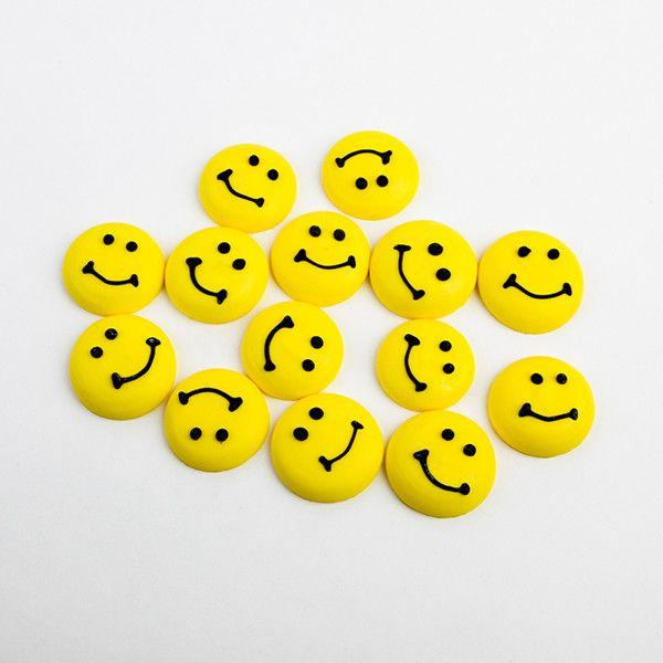 Smiley Face Royal Icing Decorations (Bulk)