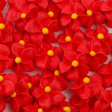 Small Royal Icing Drop Flowers - Red
