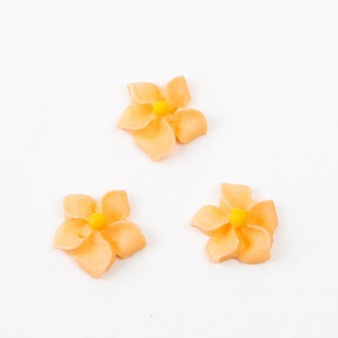 Small Royal Icing Drop Flowers - Orange