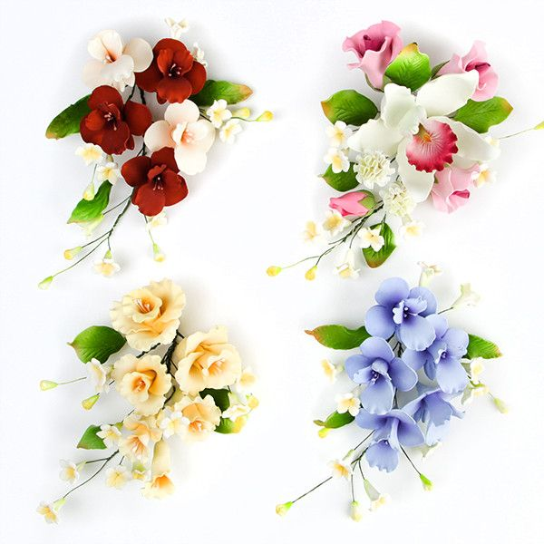 Ready to use gum paste flowers, premade and ready to place on any cake as a cake topper or cake decoration.  Great for any cake decorator for wedding cakes and birthday cakes.