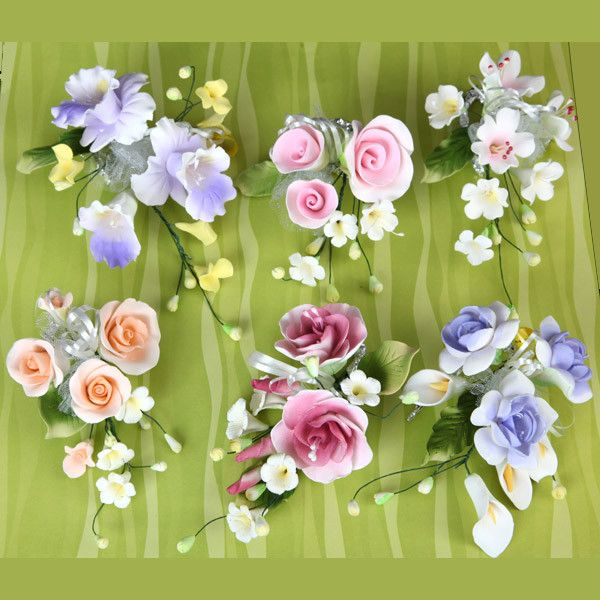 Gumpaste Sugarflower cake toppers are perfect for cake decorating fondant cakes & wedding cakes. Handmade ready to use.  Wholesale sugarflowers & cake supply.