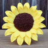 This gorgeous Extra Large Sunflower is readymade by hand from gumpaste.