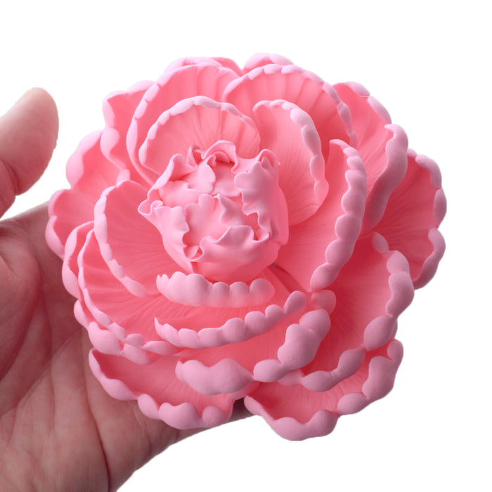 Hot pink gumpaste sugarflower peony handmade cake decoration cake topper.  Gumpaste flower. Caljava