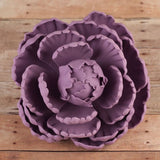 Large lavender closed gumpaste peony handmade cake decoration.  Gumpaste flower. Caljava