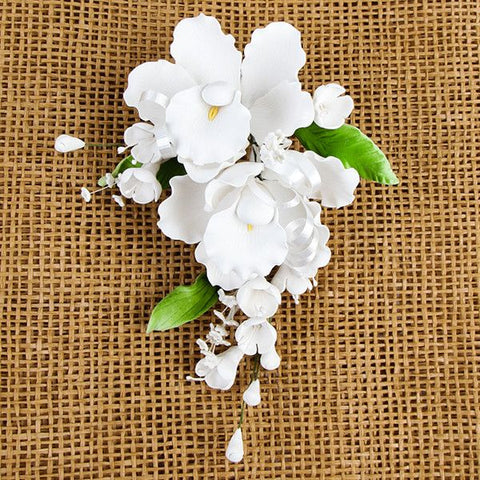 Double Dendrobium Orchid Sprays - White
