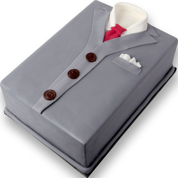 Formal Shirt with Necktie fondant cake topper great for cake decorating father's day cakes or mens cakes. Readymade cake decoration.