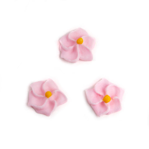 Small Royal Icing Drop Flowers - Light Pink