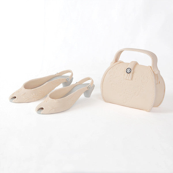 Deep Ivory Purse and Sandal Set
