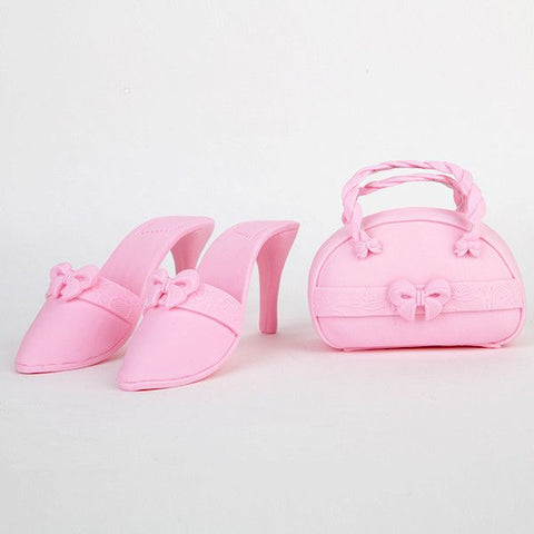 Pink Purse and Sandal Set