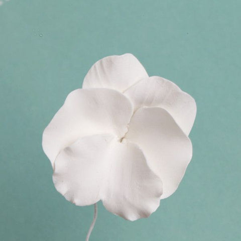 Small White Pansies Gumpaste Sugarflower edible cake decoration perfect for adding on top of your cakes and cupcakes.