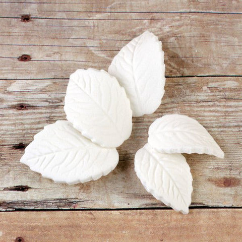 Single Rose Leaves - White