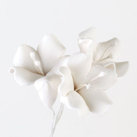Bell Flower Gumpaste Sugarflower cake topper perfect for cake decorating fondant cakes cupcakes & wedding cakes. Wholesale cake decoration supply. Caljava FondX
