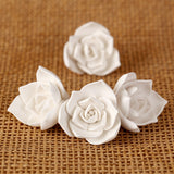 Gum paste Succulent Sugar flower cake decoration perfect as a cake topper for wedding cakes. | CaljavaOnline.com