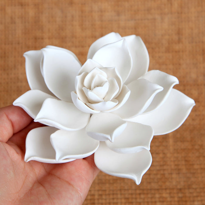 Gumpaste Succulent Sugarflower cake topper perfect for cake decorating fondant cakes & wedding cakes. | CaljavaOnline.com