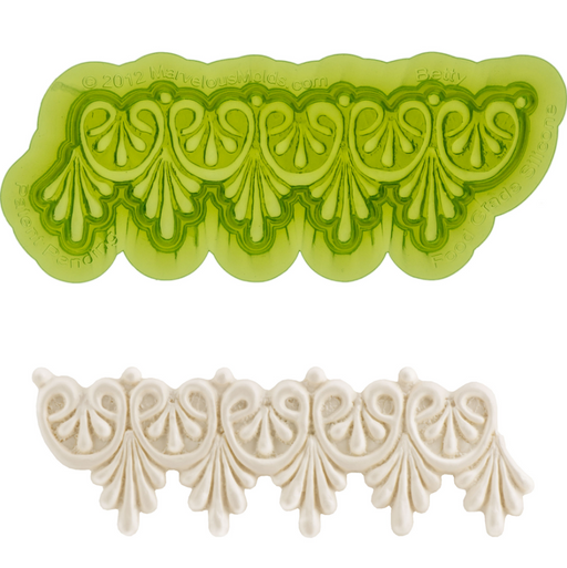 Easy to use Fondant Molds for making Fondant Lace look on your cake. Great for decorating your own cake. Marvelous Molds