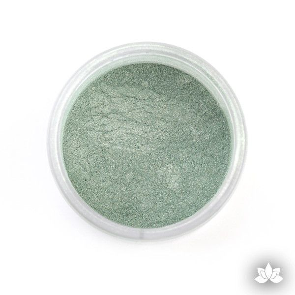 Seaweed Luster Dust colors for cake decorating fondant cakes, gumpaste sugarflowers, cake toppers, & other cake decorations. Wholesale cake supply. Bakery Supply. Green Lustre Dust Color.