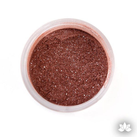 Sienna luster dust, dust color, dusting color, petal dust, food color, cake decorating, cake art, edible color, cupcake decorating, sugarart, sugarflower, cake craft, diamond dust, sparkle dust, wedding cake, fondant cake, how to, learn how, at home, bake.