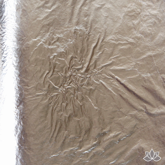 Silver Leaf Transfer Sheets great for decorating your cakes & chocolates. Metallic Silver Leaf
