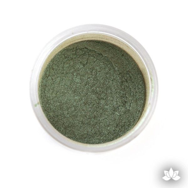 Stalk Green Luster Dust colors for cake decorating fondant cakes, gumpaste sugarflowers, cake toppers, & other cake decorations.  Wholesale cake supply.  Bakery Supply.  Lustre Dust Color.