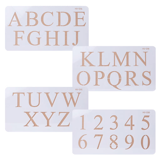 Acrylic Stencils Letters and Numbers for cake decorating your cakes, cupcakes and cookies. Lacupella