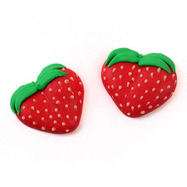 Strawberry Royal Icing Decorations (Bulk)