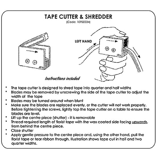 Floral Tape Cutter & Shredder by JEM