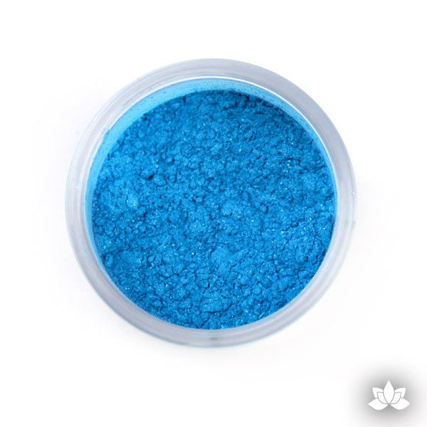 Blue Luster Dust Colors food coloring perfect for cake decorating fondant cakes, cupcakes, cake pops, wedding cakes, and sugarflowers. Dusting color. Cake supply.