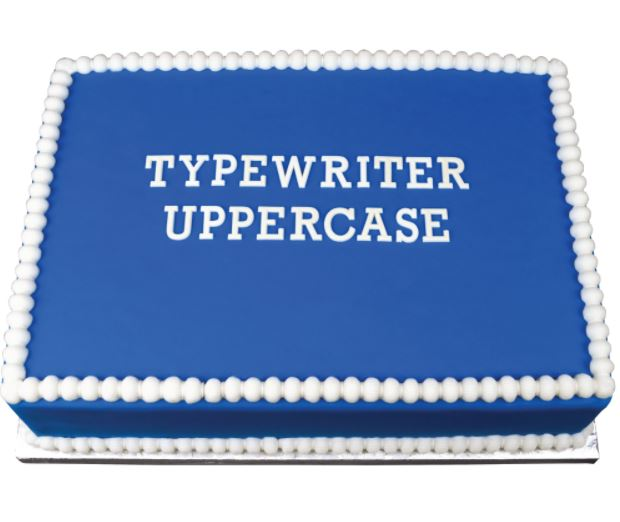 Typewriter Alphabet Fondant Cutter, the perfect tool for crafting the perfect letters and words out of fondant, gumpaste, isomalt, jolly ranchers, chocoalte and more. Cake decorating tool great for any cake design. Marvelous Molds.