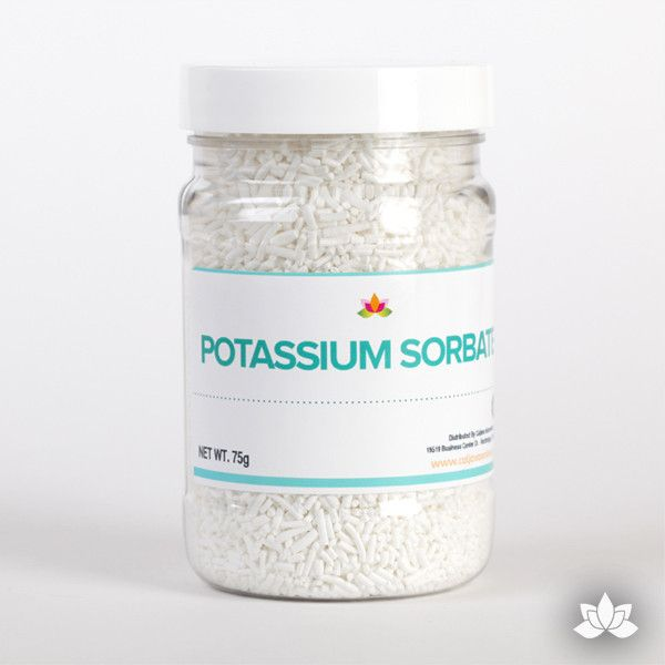 Potassium Sorbate is a food safe preservative used by cake decorators to prolong the life of their edible creations such as icings & fillings & fondant. wholesale Cake decorating supply.