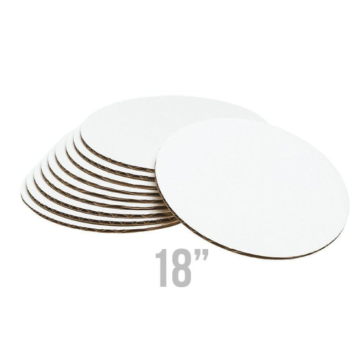 Disposable Food Safe Cake Boards perfect for placing & decorating cakes on.  Helps with the transporting of cakes & with cake decorating.  Bakery & cake supply.