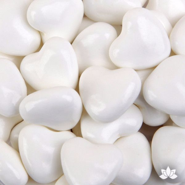 White Candy Hearts - 35g